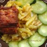 Свиные ребра в духовке (медовые)