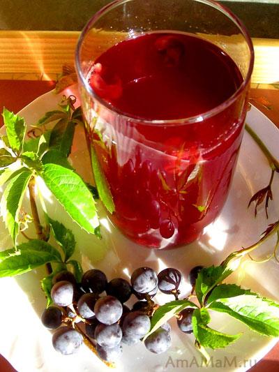 Сочный, насыщенный компот из винограда