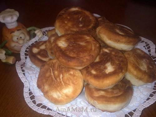 Очень вкусные жареные пирожки по простому  рецепту - жарим на сковородке!