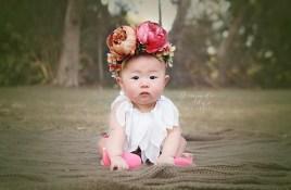 baby photogrpahy, huntington beach park, flower crown, orange county photographer, amanda skye photography