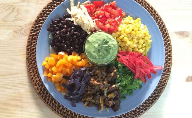 Fiesta Chop Salad from Amandas Plate