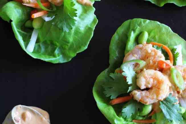 shrimp lettuce wraps, lettuce wraps