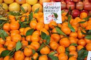 fresh oranges, satsumas