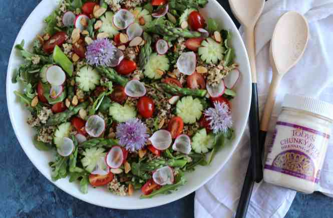 spring salad with tobys feta ranch