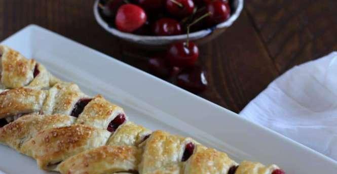 cherry and chocolate pastry