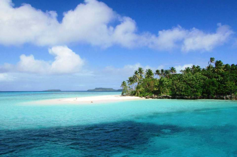 Praia em Tonga