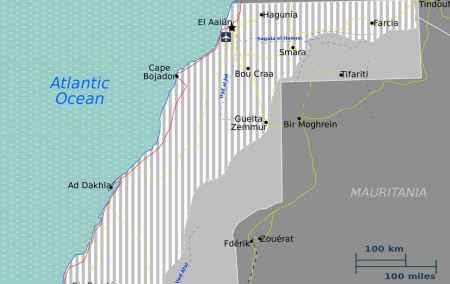 Mapa da República Saharaui