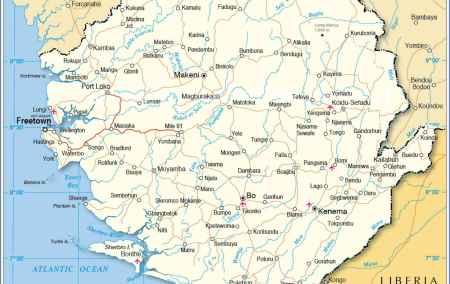 Mapa da Serra Leoa