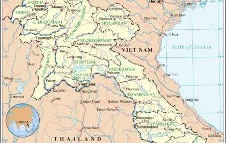 Mapa do Laos