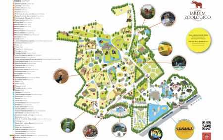 Mapa do Zoo de Lisboa