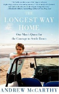 Andrew McCarthy is featured on the book cover, against a distant and vast backdrop