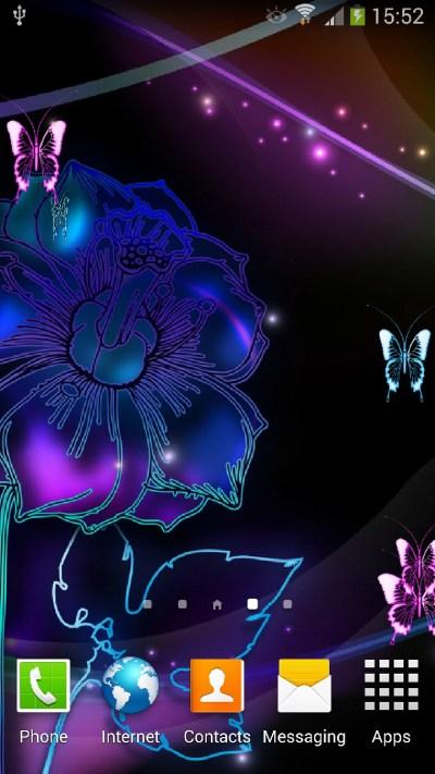 Neon Butterflies Live Wallpaper   Amax Software