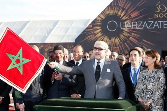 Marokkaanse koning opent grote zonnecentrale