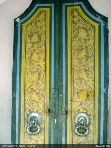 A side door of the main Image House - Mutiyangana Raja Maha Viharaya