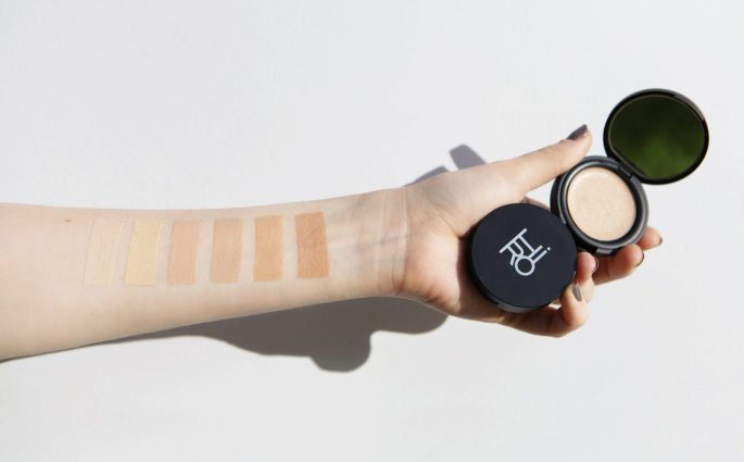 HIRO Space Balm swatches on arm