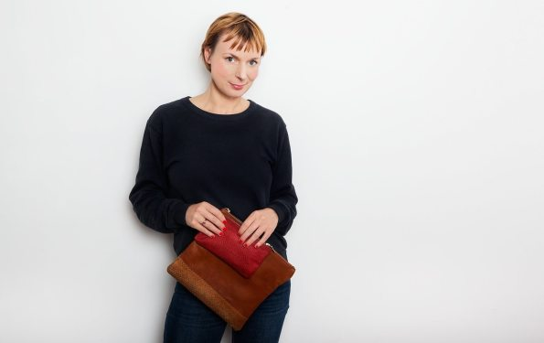 Carolyna: handmade sustainable leather clutches