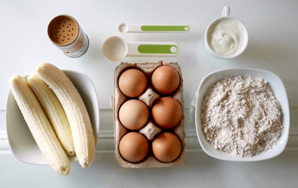 Ingredients for Banana Pancakes