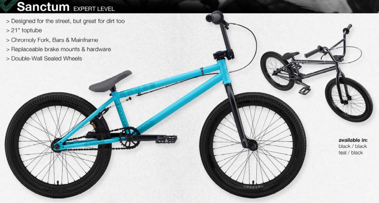 black teal sanctum bike