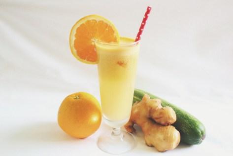 Orange + Ginger + Cucumber Juice