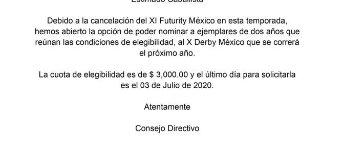 AVISO DERBY MÉXICO