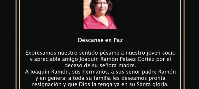 Esquela Bernadette Cortéz de Pelaez
