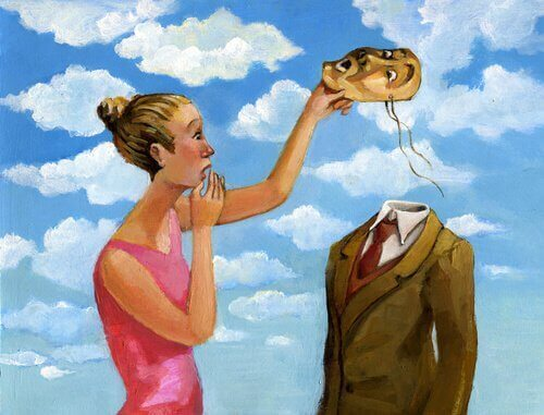 Femme-enlevant-un-masque-a-un-homme