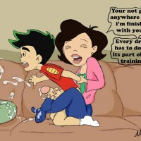 There are moments in Jake Long's training that Susan is enjoying much more than him...