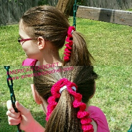 Que Crochet Hair : Curly Que Ponytail Ties American Crochet