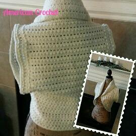 bead n lace circular vest medium ac