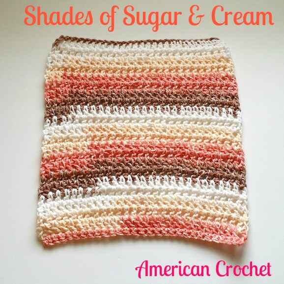 Shades of Sugar & Cream Washcloth