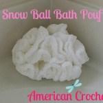 Snow Ball Bath Pouf