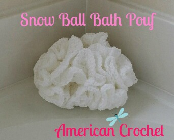 Snow Ball Bath Pouf