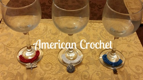 Girlie Patriotic Wine Glass Charms