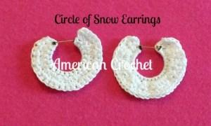 Circle of Snow Earrings