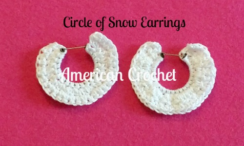 Circle of Snow Earrings | American Crochet