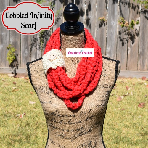 Cobbled Infinity Scarf | American Crochet