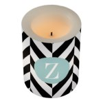 teal_circle_monogram_black_white_zigzag_flameless_candle-r392c5fe569ec49d2b85f27566be91c7c_jq9a0_324