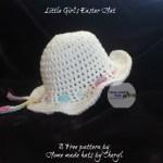 Little Girls easter summer hat