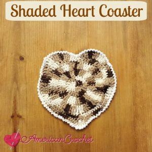 Shaded Heart Coaster w white edging