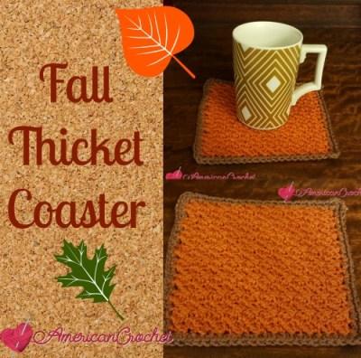 Holiday Stashdown CAL 2016! ~ Fall Thicket Coaster