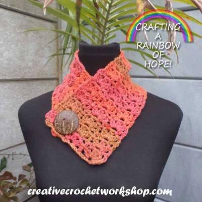 Orange Wood Fall Cowl ~ Crafting A Rainbow Of Hope!