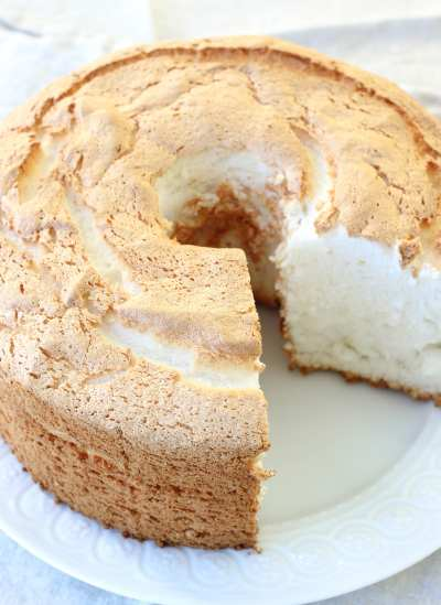 Angel Food Cake with Blueberry Sauce - American Heritage Cooking