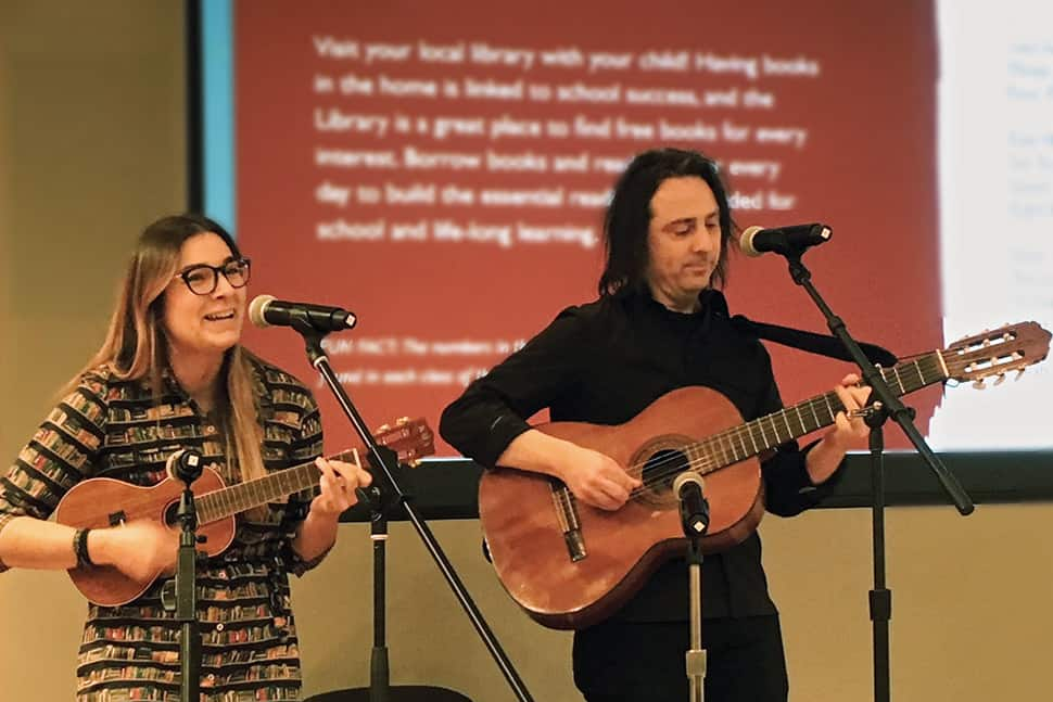 Sing a Song of     Early Literacy   American Libraries Magazine Emily Elizabeth Lazio and Sean R  Ferguson perform a song from NYPL Sings   Songs