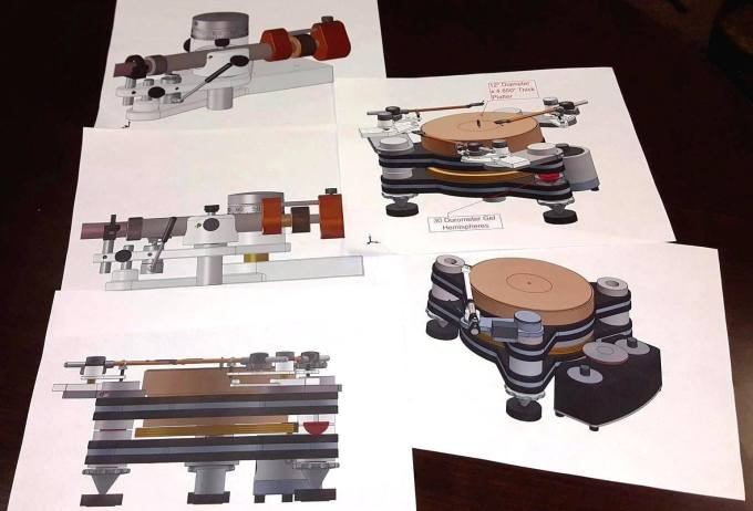 VPI Titan Turntable Renderings