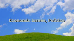 Economic Issues, Politics