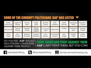 Arvind Kejriwal's List Of India's Most Corrupt Politicians
