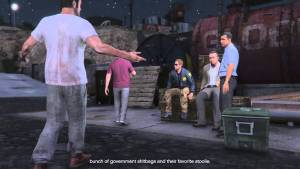 Grand Theft Auto V | Trio's reaction to government corruption