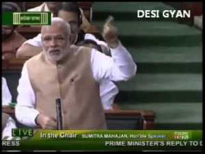 Narendra Modi making fun of Congress