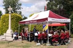 Amersham Band  Memorial Gardens WW1 Concert 2014