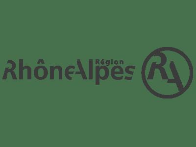 Logo Région Rhône-Alpes Noir